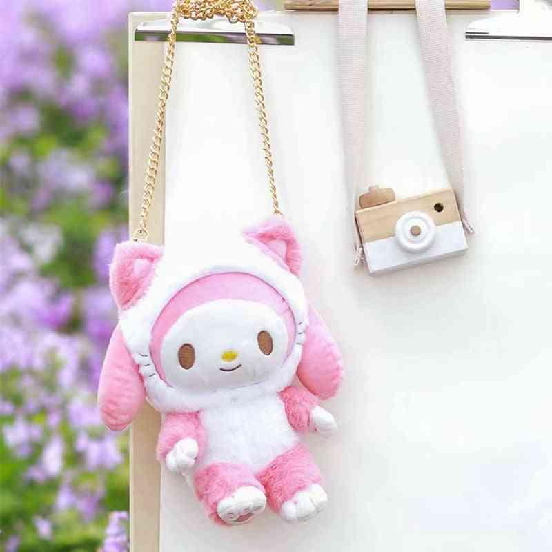 Melody Hello Kitty/cinnamoroll Design Doll Stuffed Plush Soft Bags For