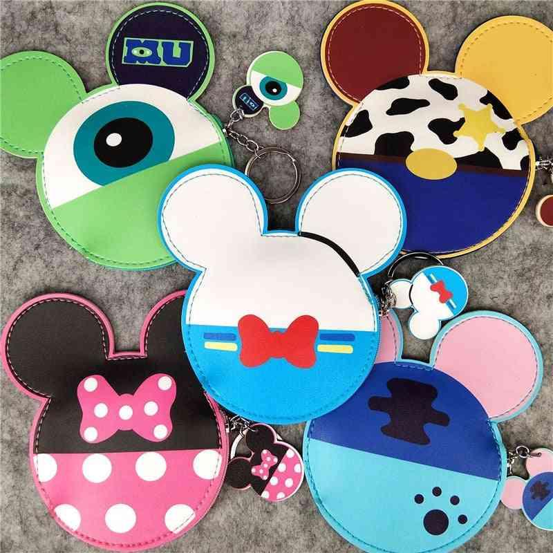Disney Mickey Mouse Head Shape Pu Leather Coin Purse