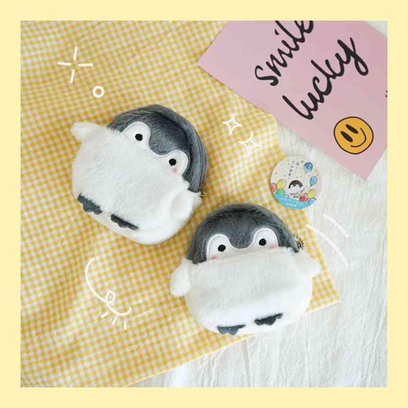 Cute Mini Penguin Style Soft Fabric Coin Purse