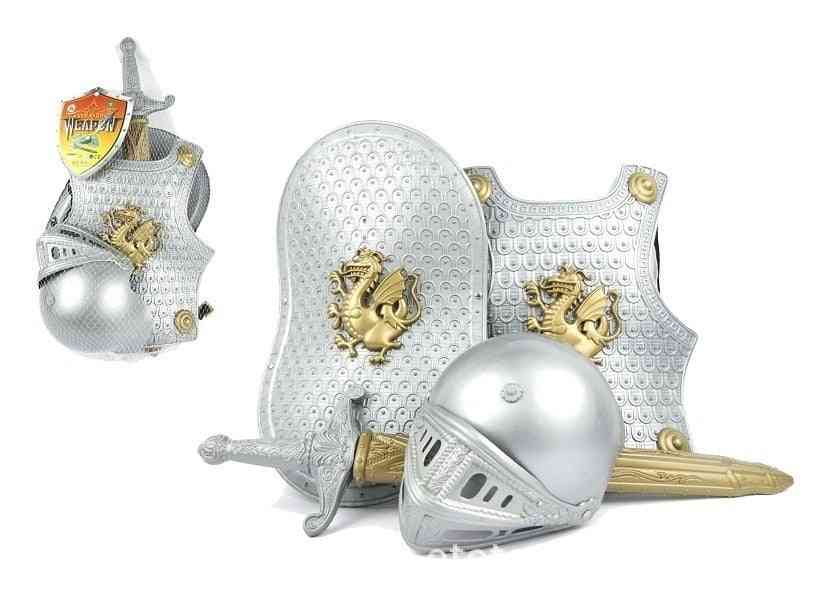 Ancient Knight Armor And Shield-cosplay Costume For Kids