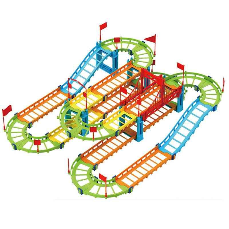 Diy Electric Car/train Track Model Toy-transportation Building Slot Sets