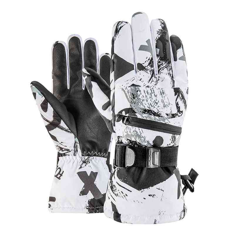 Men, Women Winter Thermal Snowboard, Waterproof Anti-slip Skiing Gloves