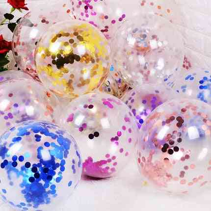 Glitter Confetti Latex Air Balloons For Wedding/christmas Decoration/ Baby Shower/ Birthday Party