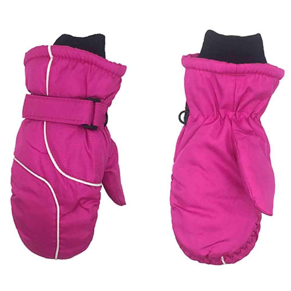 1 Pair Of Cute Warm And Waterproof Ski Gloves