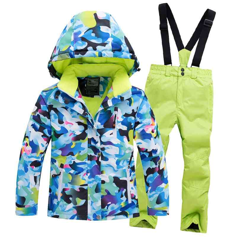 Waterproof And Windproof Warm Snow Suit For Kids