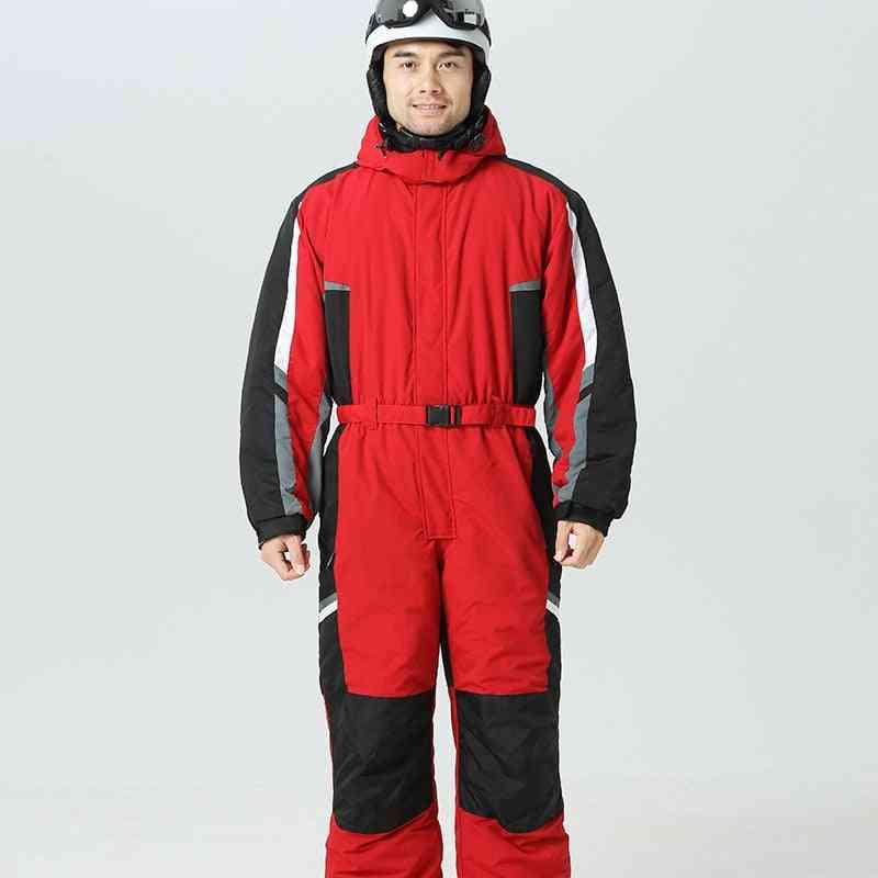 -30 Degree Men, Women's, Winter Snow Jumpsuit- Skiing Overalls Fleece Snowboarding Clothes, Waterproof Snowsuits