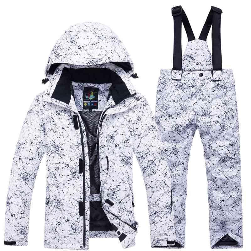 - 30 Degree Snowboard Ski Jacket, Pants, Waterproof Thermal Winter Clothing, Women
