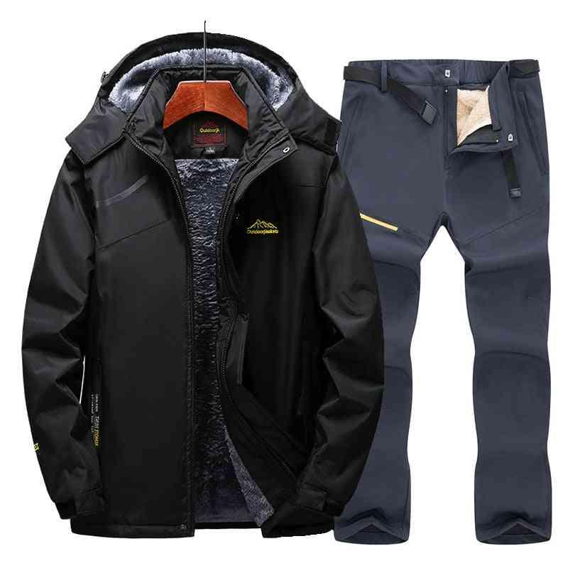 Snow Skiing Cloths Sets, Warm Waterproof Windproof, Fleece Jacket / Pants's