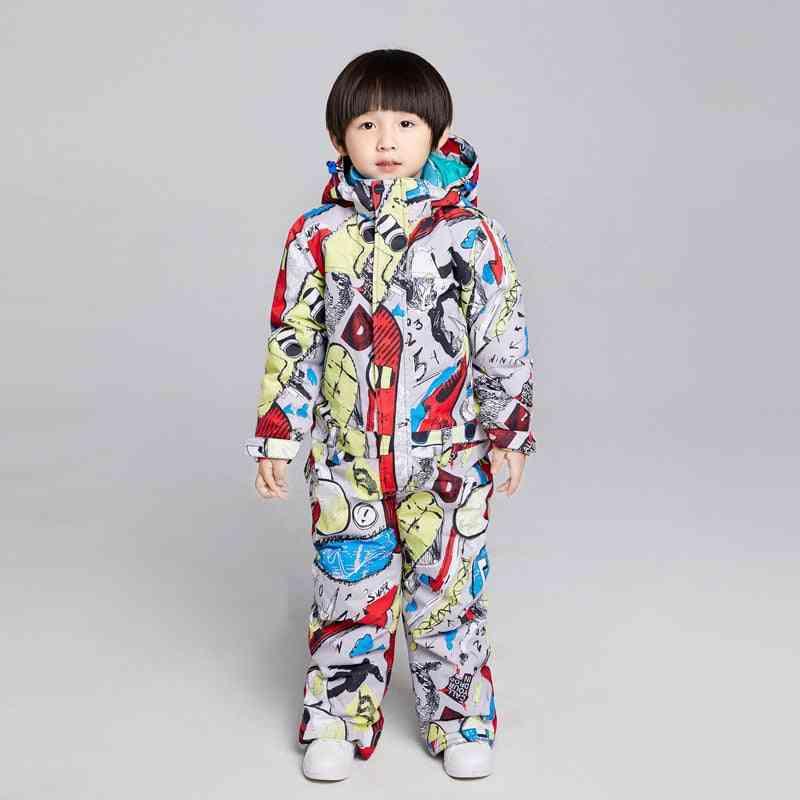 Winter Skiing, Snowboarding Jacket, Pants Set - And
