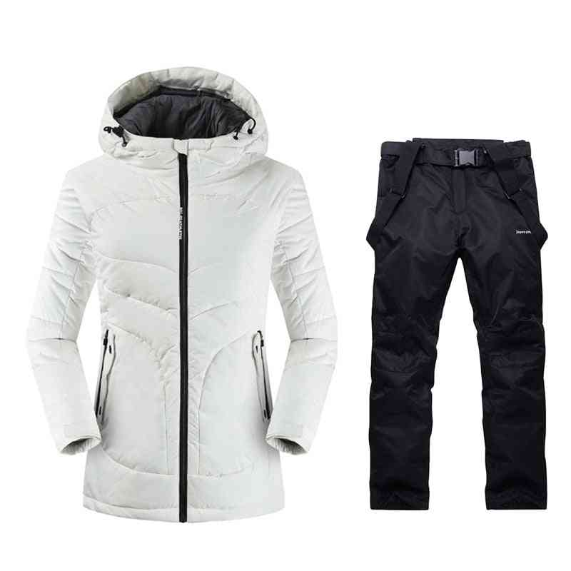 Womens Mountain Outdoor Winter Warm, Sport Suits, Snow Clothing Ski Jacket, Pants