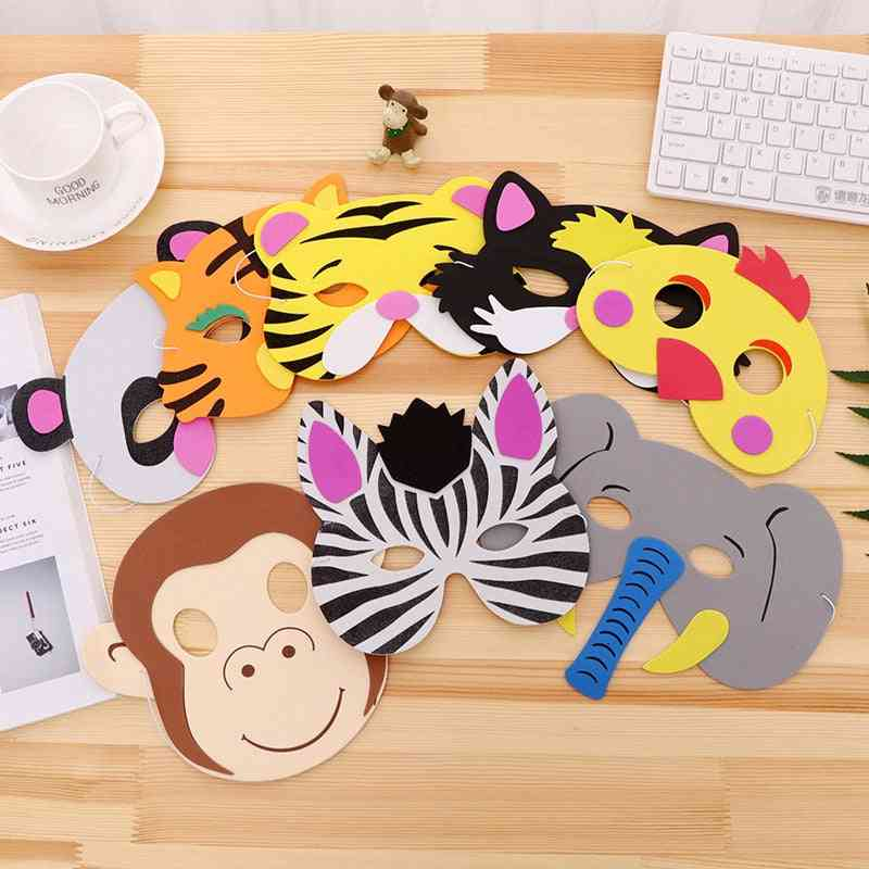Animal Print Masks Or Props For Halloween Kid's Party