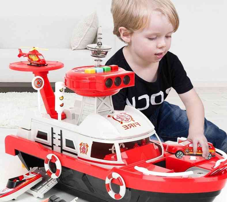Simulation Inertia Ship Diecasts & Vehicles-musical Led Toy