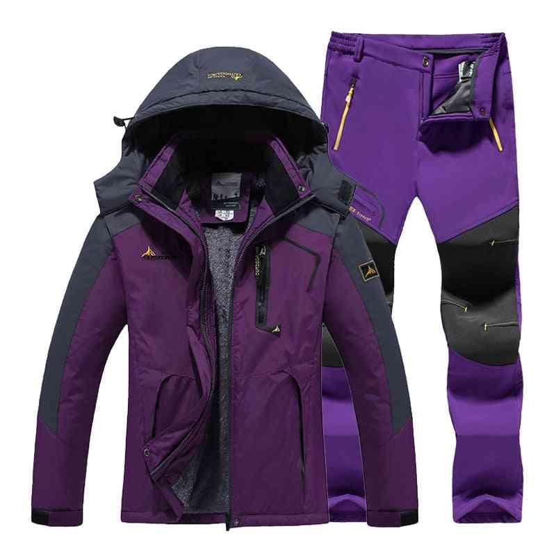 Women Outdoor Camping Hiking Waterproof Windproof, Warm Jacket / Pants
