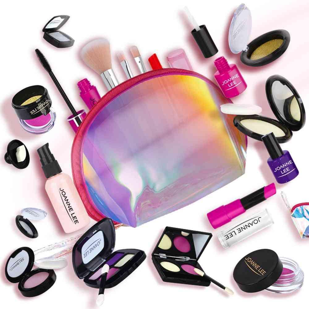 12pcs Makeup Set, Beauty Pretend Play Simulation Cosmetic Bag