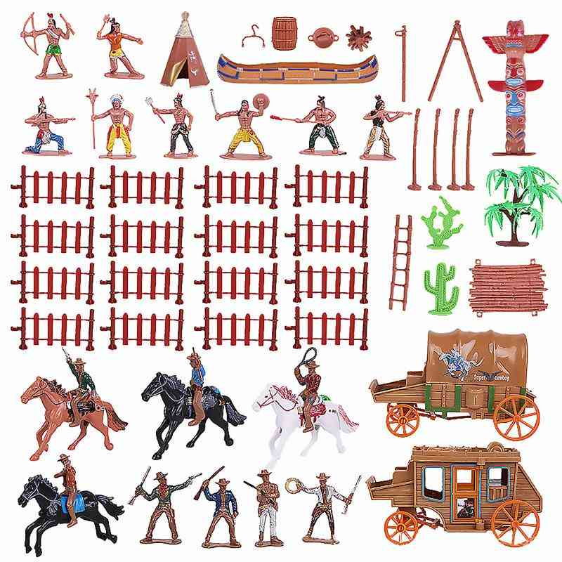 Western Cowboy Carriage Simulation Adornment Character Model