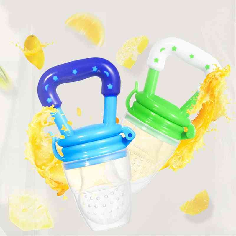 Fruits Nipple Teether, Silicone, Pacifier Chain Pendant Safety