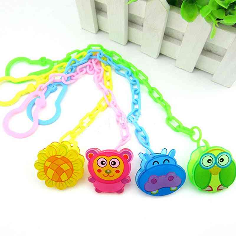 Baby Animal Pacifier Clip, Chain Molars Hand Made Beads Toy