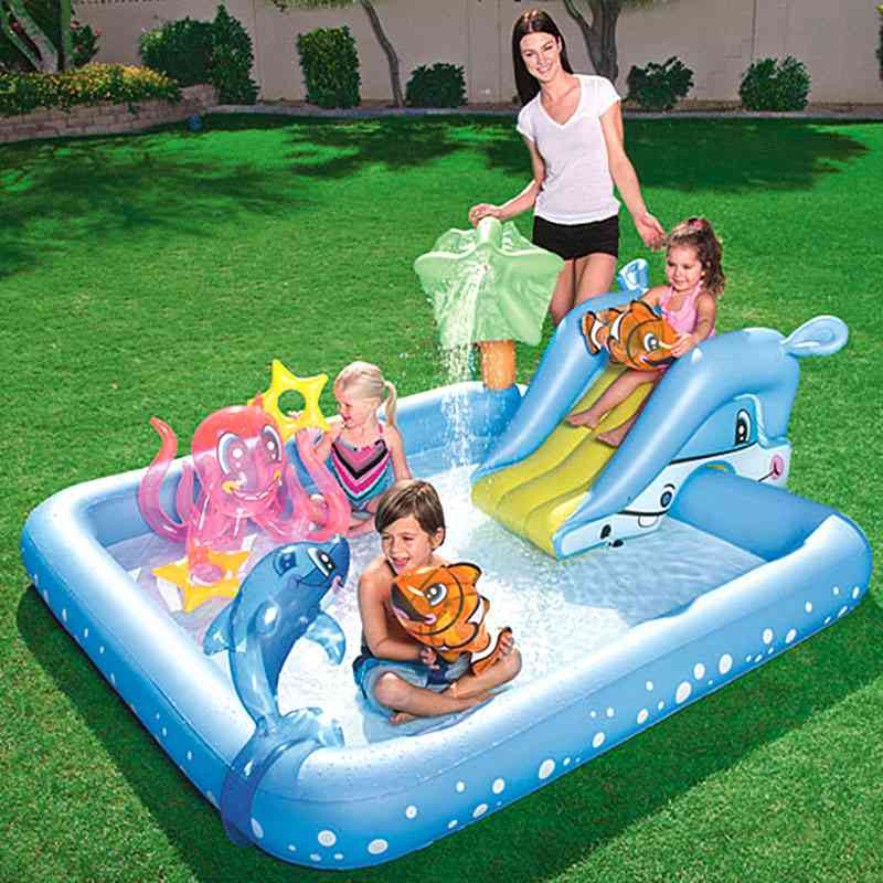 Children's Water Slides Water Inflatables, Outdoor Backyard Pools Toy