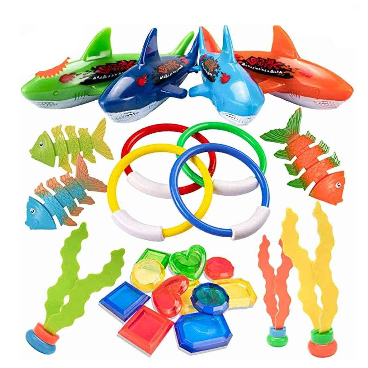 Summer Playing Swimming Pool Throwing Diving, Underwater Rings Circle Set Toy