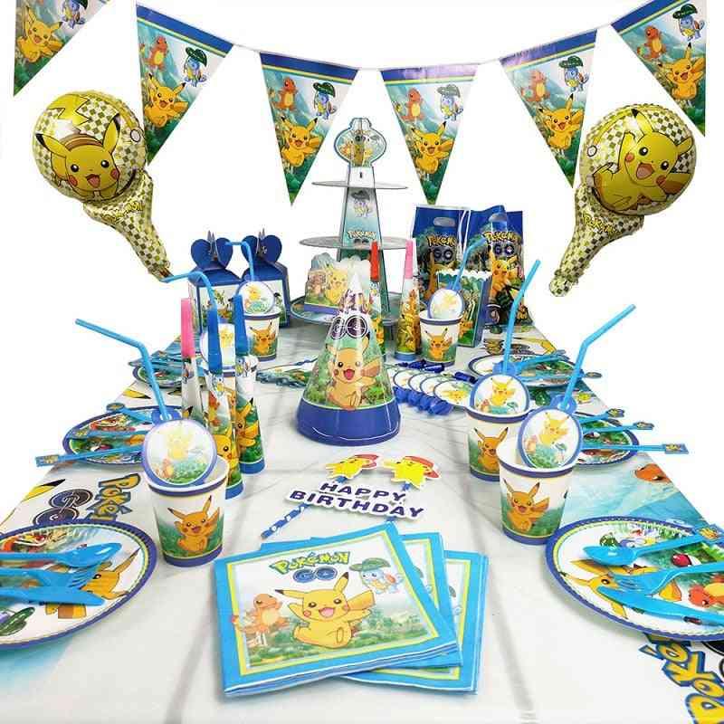 Pokémon Theme Birthday Party Decoration Supplies