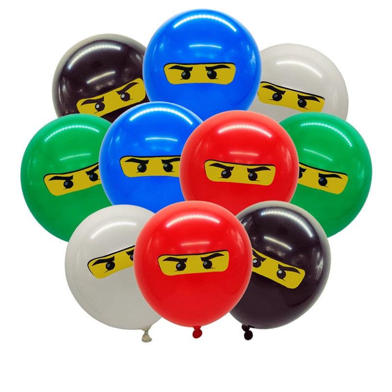 Ninjago Theme, Balloons Birthday Party Decoration