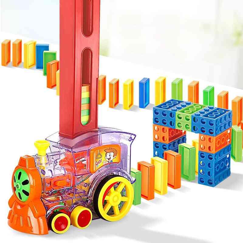 Domino Electric Train Building Block Toy
