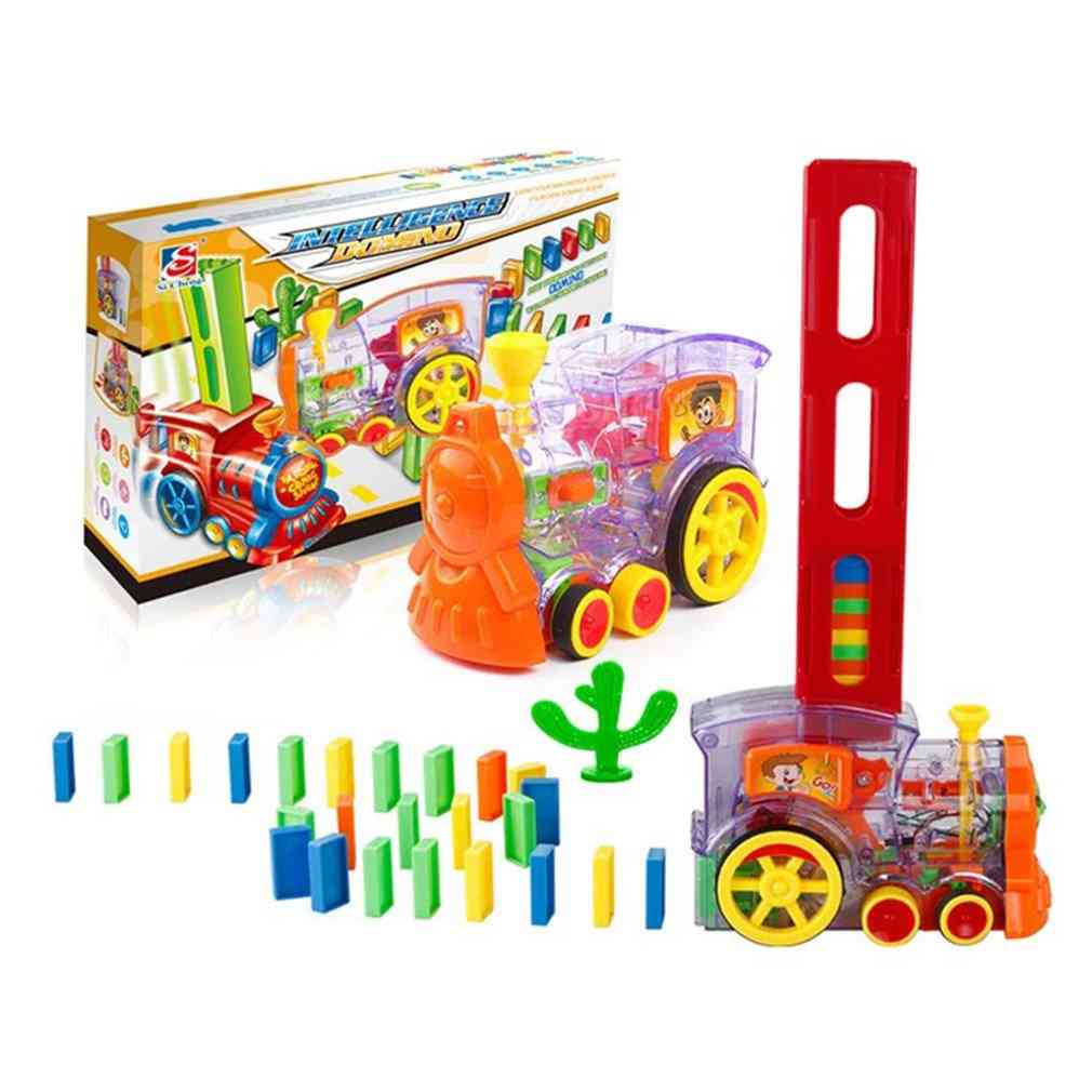 Electric Domino Train Car Vehicle-automatic Set Up