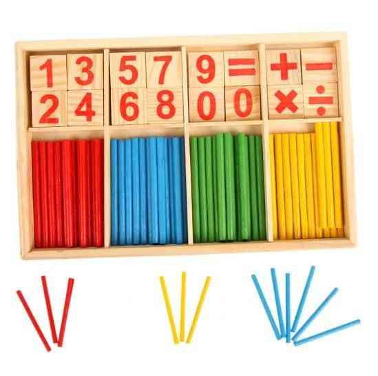 Early Learning Puzzle Number Counting Sticks Teaching Aids Toy