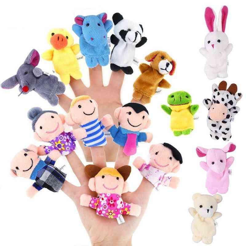 Cartoon Animal Plush Finger Puppets Set