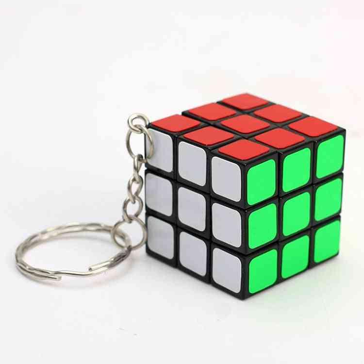 Mini Puzzle Cube Key Chain For