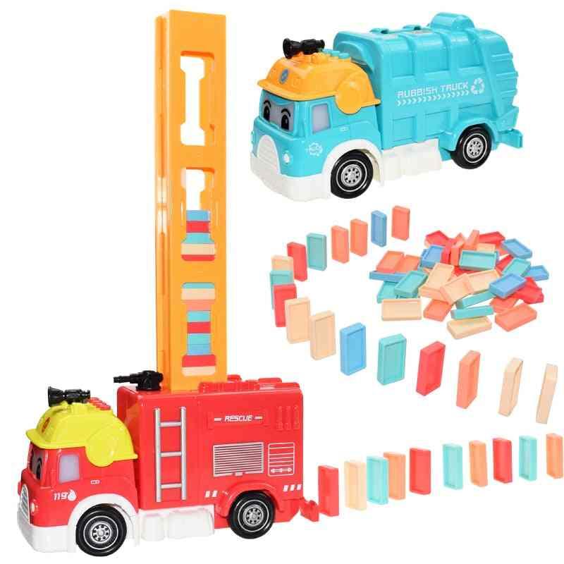 Automatic Brick Train Car Set Sound/light /colorful Plastic Game For