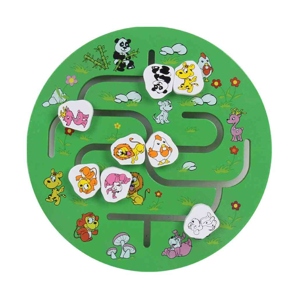 Wooden Learning Puzzle- Scene Pairing Maze Kids Toy