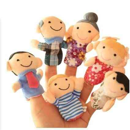 Finger-puppets Tell Story Props -animals, Family-doll