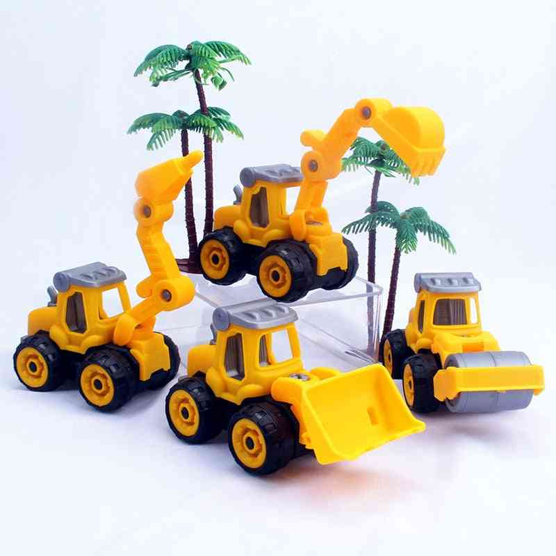 Children Puzzle, Diy Disassembly Engineering Car Building Block Educational- Nut Assembly Vehicle Excavator Toy