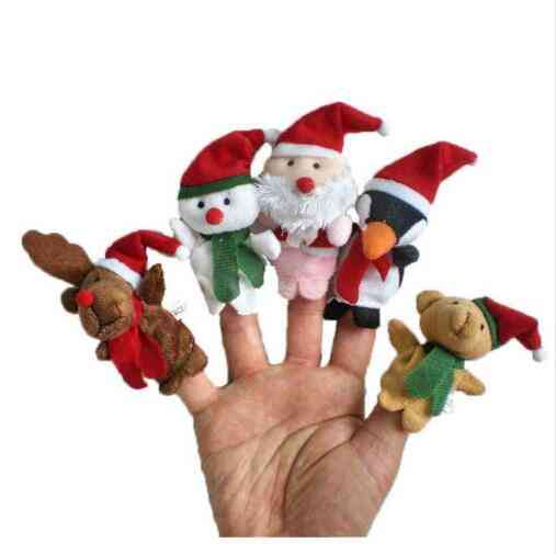 Set Of Christmas Santa Claus And Friends- Finger Puppets