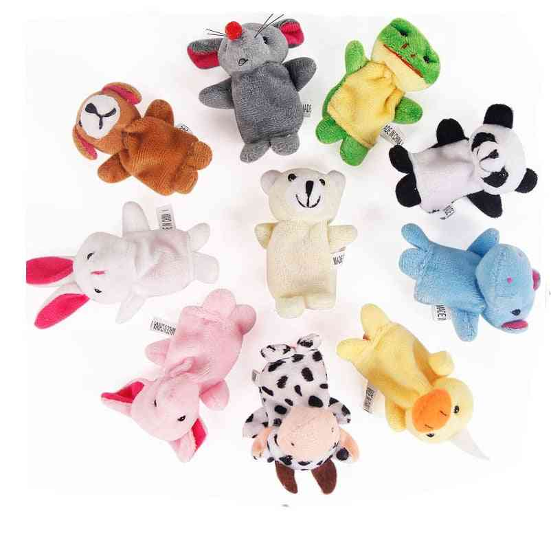 Finger Puppets Tell Story Props, Animals And Family Doll For Baby Kids