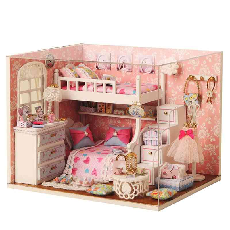 Diy House Miniature With Furniture For