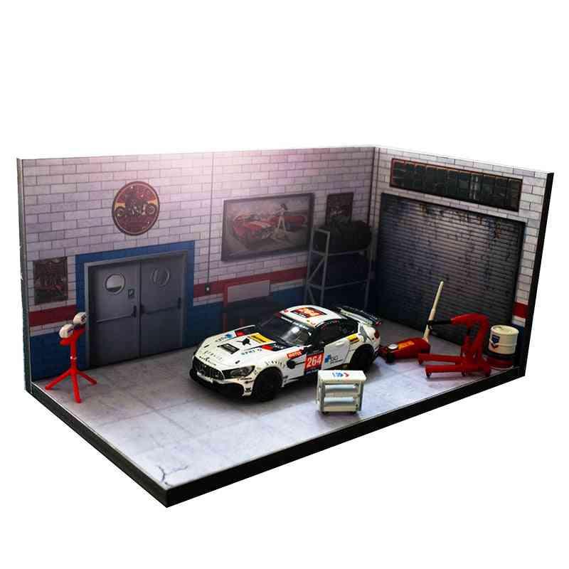 1/64 And 1/24-garage/repair Shop Model