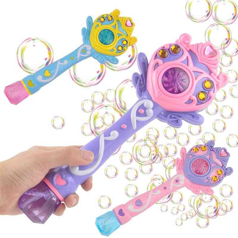 Kids Magic Wand, Electric Water Bubble Blower Toy For