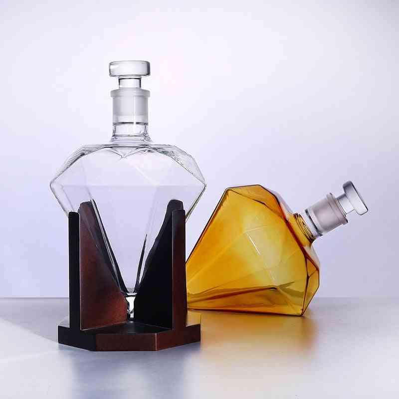 Diamond Shape Whiskey Bottle