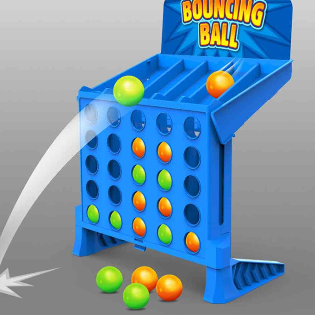 Children's Bouncing Linking Shots Educational, Four-line Board Game