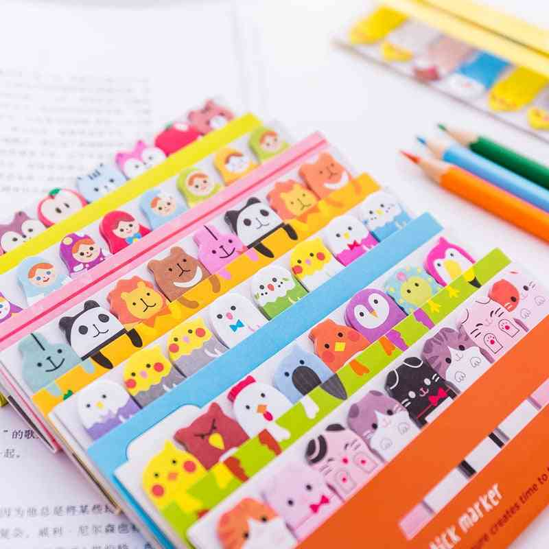 Memo Pad, Creative Bookmarks, Cute Animal Index Posted It Planner Stationery
