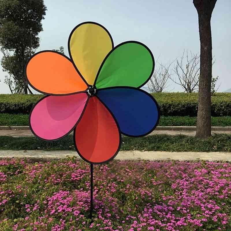 Rainbow, Dazy Flower Design Wind Spinner, Garden, Outdoor Decor
