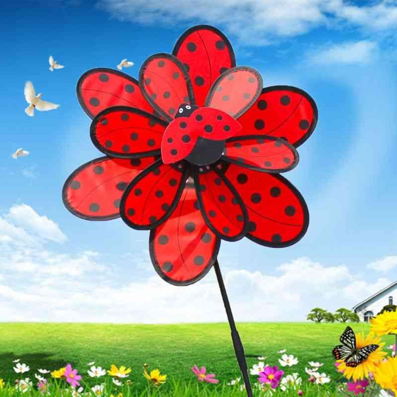 Double Layer, Ladybug Design Wind Spinner