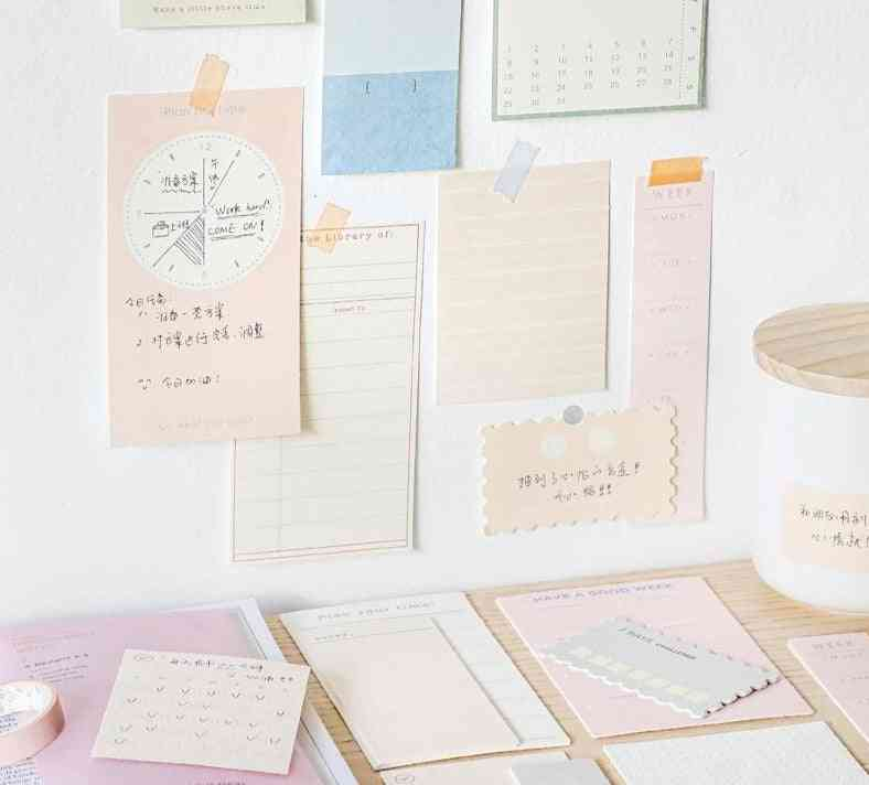 Afternoon Series, Memo Pad, Creative Solid Color Sticky Notes