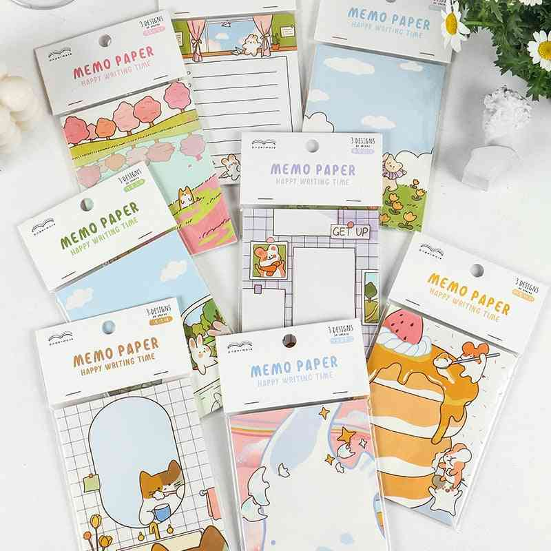 Manual Memo Pad, Cute Stationery N Times Sticky Notes