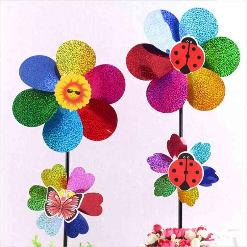 Colorful Rainbow, Dazy Flower Design Wind Spinner