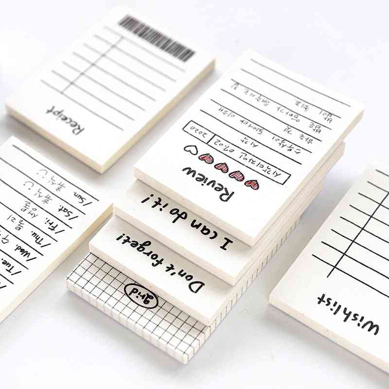 Creative Daily Schedule Memo Pad, To Do List Time Sticky Note