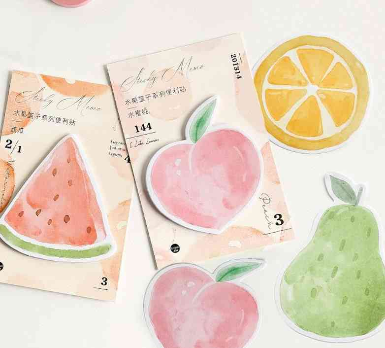 Fruits Basket Sticker, Bookmark Memo Pad, Sticky Note