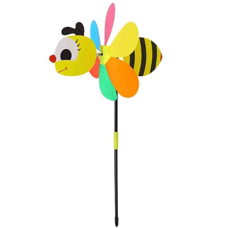 3d Large Bee Shape, Foldable Wind Spinner And Decoration
